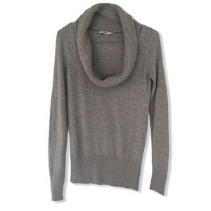 Oasis Grey Detachable Knit Cowl Neck Sweater XS